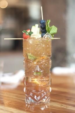 Kombucha cocktail vermouth, gingembre