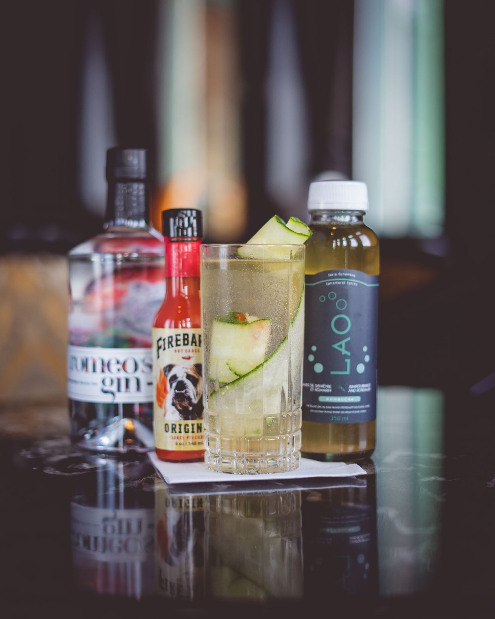 Rose-Marie on fire – Cocktail au kombucha