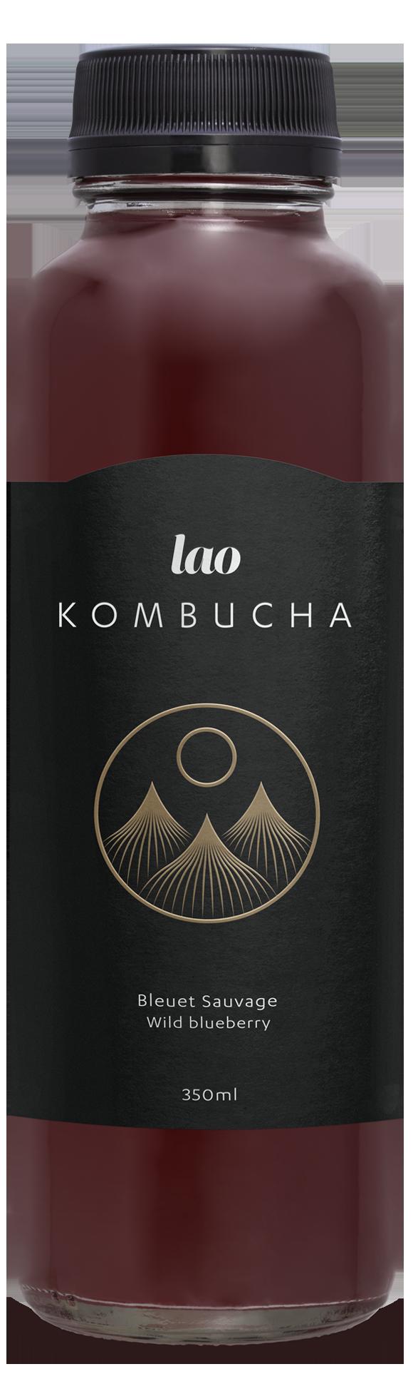 Kombucha PuEr Tea, Blueberry, Wintegreen, Premium, sober, no alchohol
